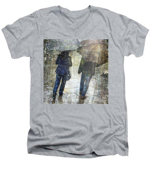 Rain Through The Fountain Men's V-Neck T-Shirt