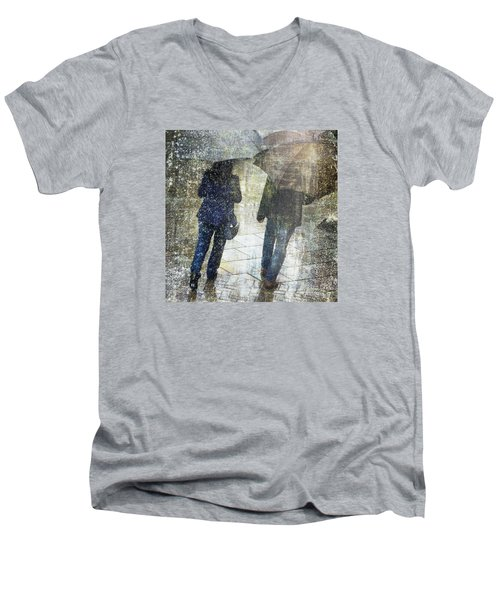 Rain Through The Fountain Men's V-Neck T-Shirt