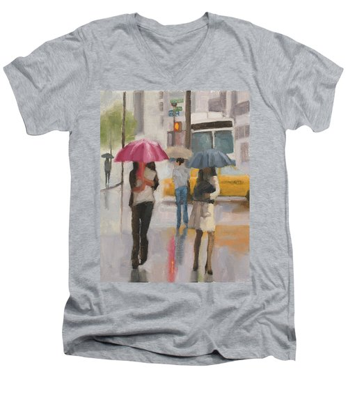 Rain Walk Men's V-Neck T-Shirt