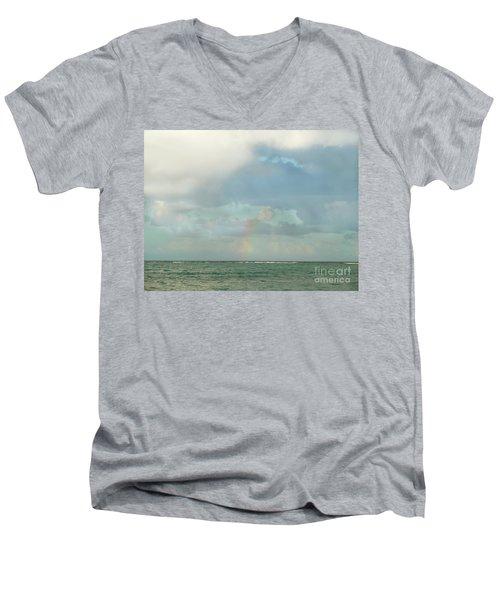 Rainbow 1 Men's V-Neck T-Shirt