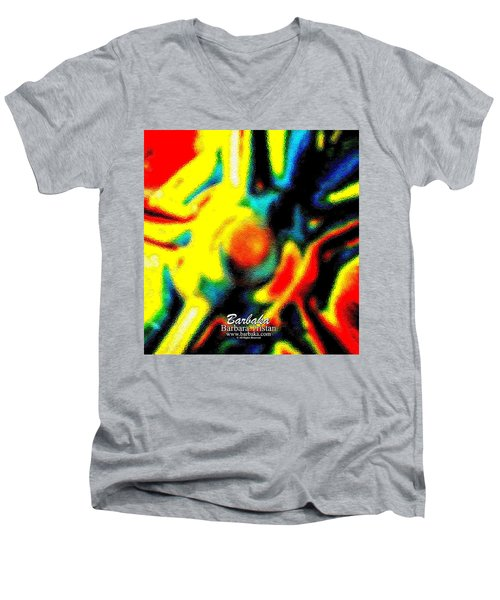 Men's V-Neck T-Shirt featuring the photograph Rainbow Bliss #051347 by Barbara Tristan