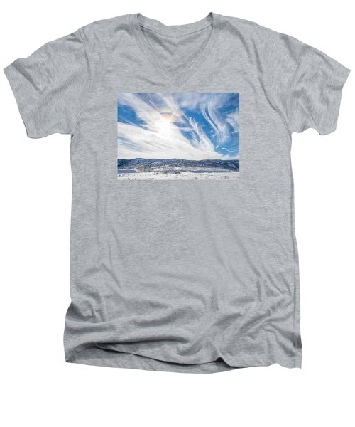 Rainbow Clouds Men's V-Neck T-Shirt