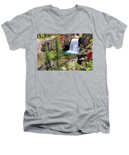 Rainbow Falls 1 Men's V-Neck T-Shirt