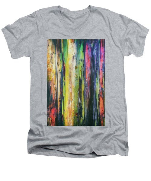 Men's V-Neck T-Shirt featuring the photograph Rainbow Grove by Ryan Manuel