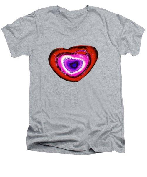 Rainbow Heart Men's V-Neck T-Shirt