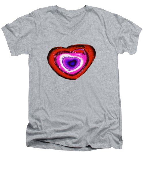 Rainbow Heart Men's V-Neck T-Shirt