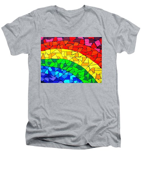 Rainbow ... Men's V-Neck T-Shirt