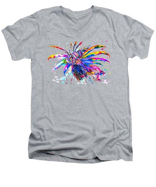 Rainbow Lionfish Men's V-Neck T-Shirt