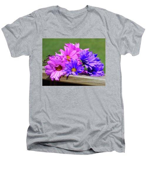 Rainbow Mums 2 Of 5 Men's V-Neck T-Shirt by Tina M Wenger
