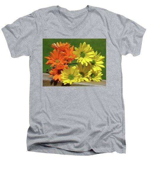 Rainbow Mums 4 Of 5 Men's V-Neck T-Shirt by Tina M Wenger