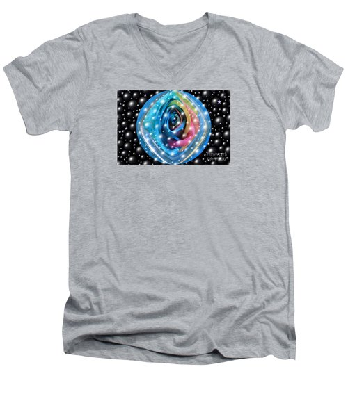 Rose Planet Men's V-Neck T-Shirt