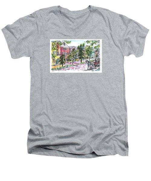 Rainbow Row Men's V-Neck T-Shirt
