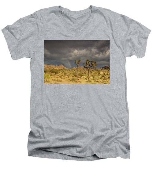 Rainbows Thunderstorms And Sunsets Men's V-Neck T-Shirt