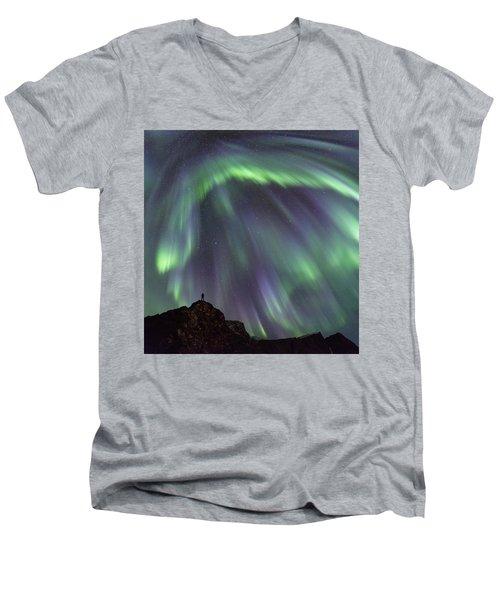 Raining Light Men's V-Neck T-Shirt by Alex Conu