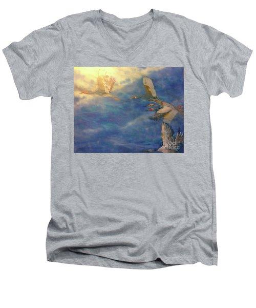 Raining Tears Men's V-Neck T-Shirt by FeatherStone Studio Julie A Miller
