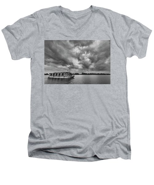 Men's V-Neck T-Shirt featuring the photograph Rainy Day Cruise by Hitendra SINKAR