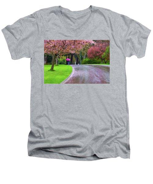 Rainy Day In The Park Men's V-Neck T-Shirt