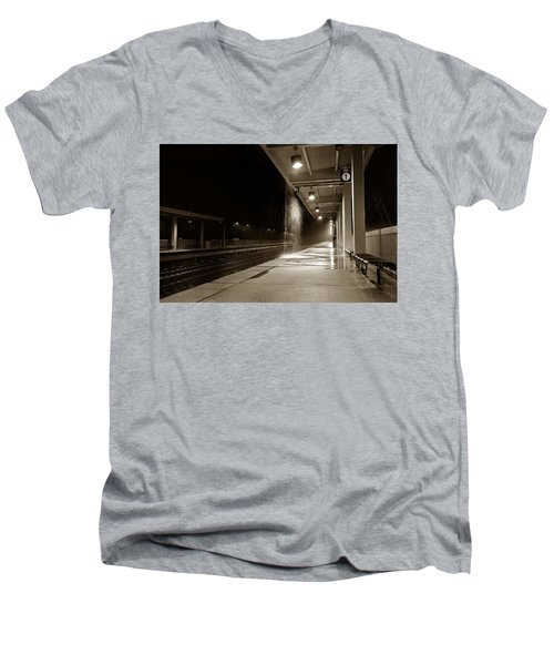 Rainy Night In Baltimore Men's V-Neck T-Shirt