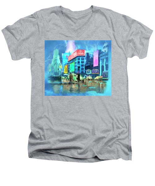 Rainy Night In New York Men's V-Neck T-Shirt