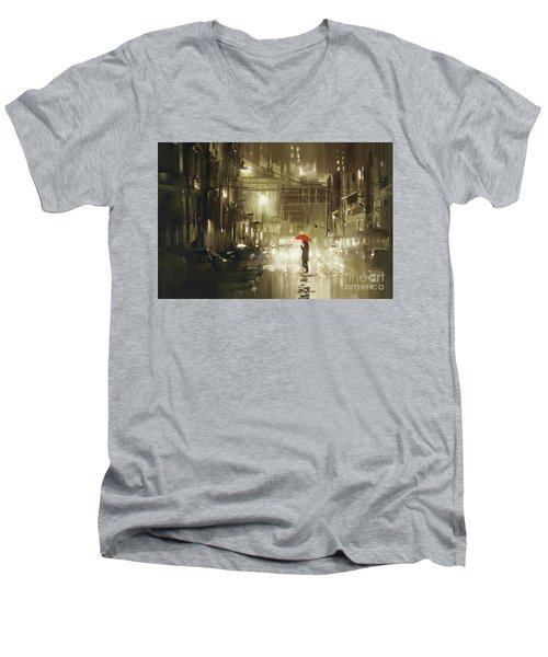 Rainy Night Men's V-Neck T-Shirt