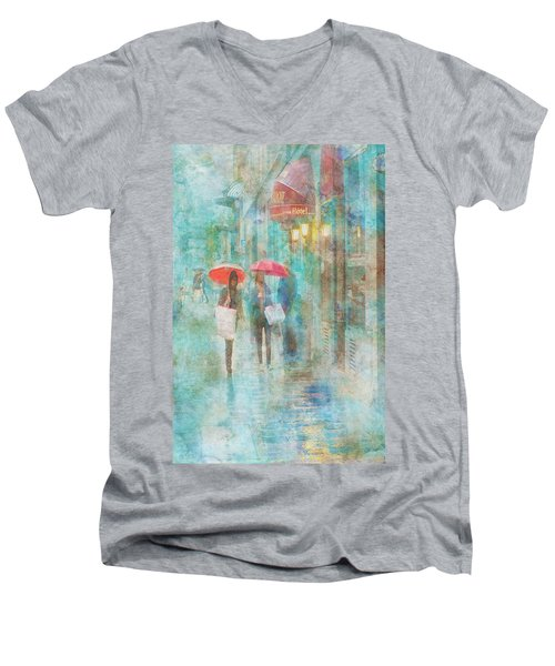 Rainy In Paris 4 Men's V-Neck T-Shirt