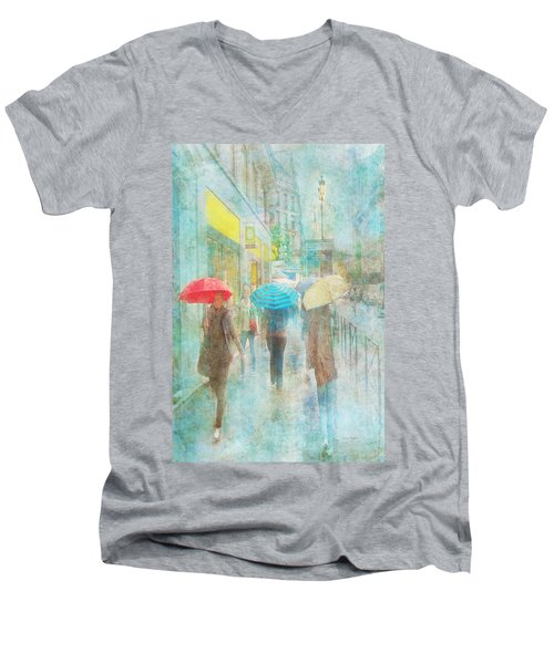 Rainy In Paris 5 Men's V-Neck T-Shirt