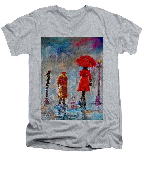 Rainy Spring Day Men's V-Neck T-Shirt