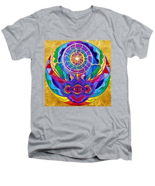 Raise Your Vibration Men's V-Neck T-Shirt