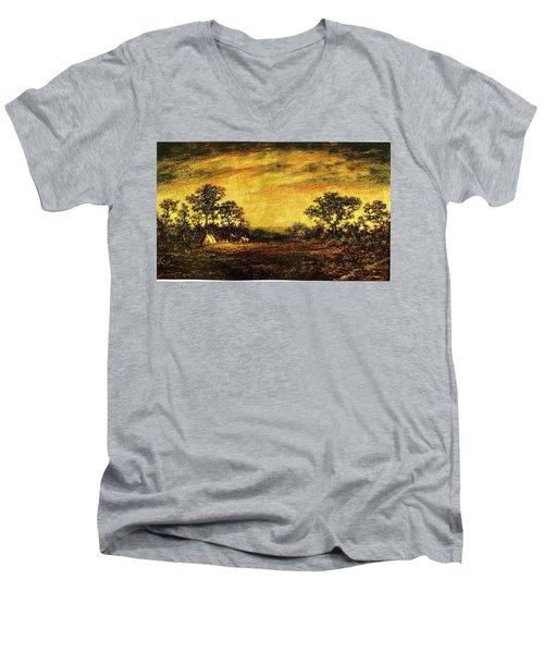 Ralph Blakelock, Indian Encampment Men's V-Neck T-Shirt