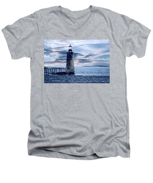 Ram Island Head Lighthouse.jpg Men's V-Neck T-Shirt