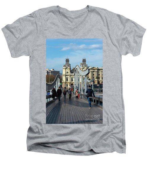 Rambla Del Mar Footbridge Men's V-Neck T-Shirt