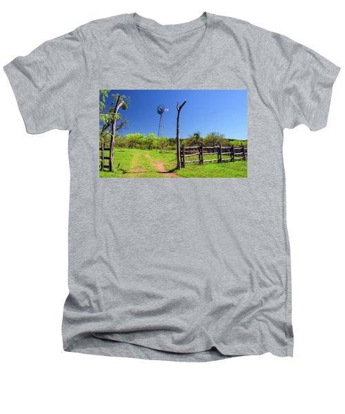 Ranch At Click Gap II Men's V-Neck T-Shirt