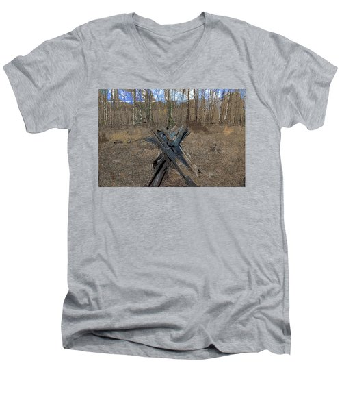 Ranch Fencing Men's V-Neck T-Shirt