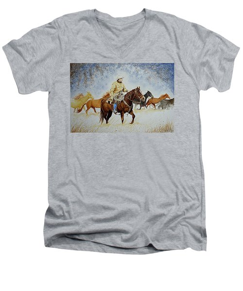 Ranch Rider Men's V-Neck T-Shirt