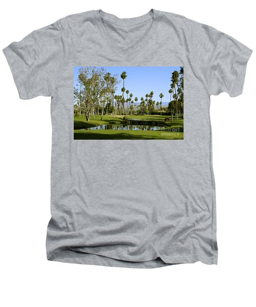 Rancho Mirage Golf Course Men's V-Neck T-Shirt by Nina Prommer