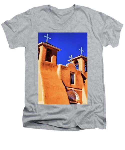 Ranchos De Taos Church Men's V-Neck T-Shirt