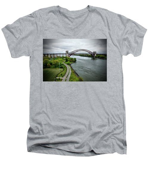 Randall's Island To Hellgate Men's V-Neck T-Shirt