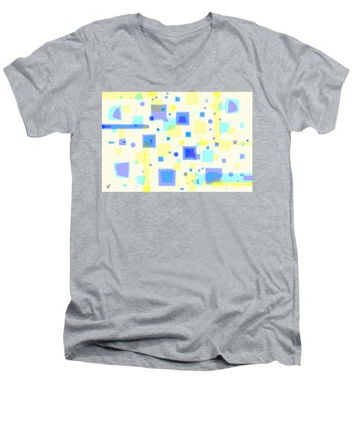 Random Blips Men's V-Neck T-Shirt