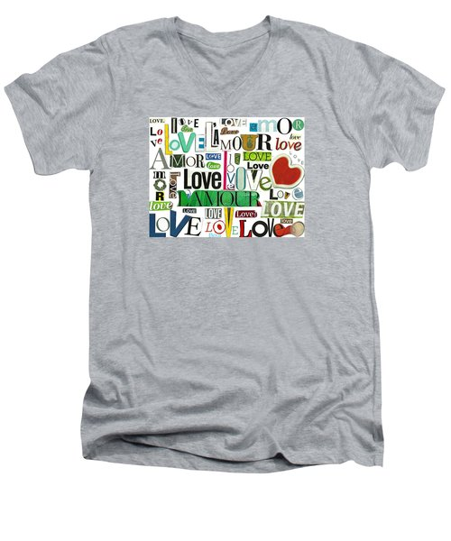 Ransom Art - Love Men's V-Neck T-Shirt