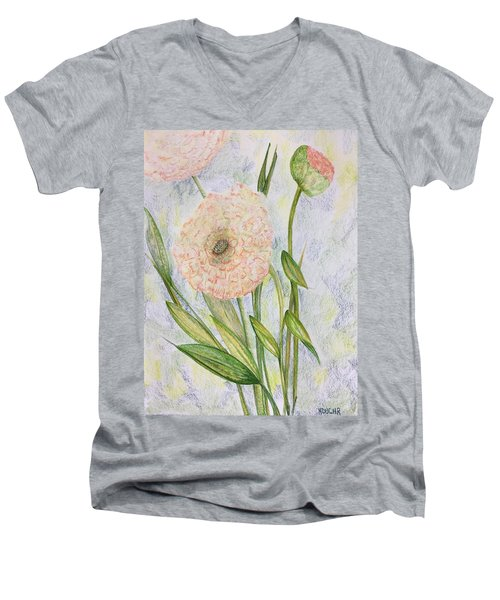 Ranunculus Men's V-Neck T-Shirt
