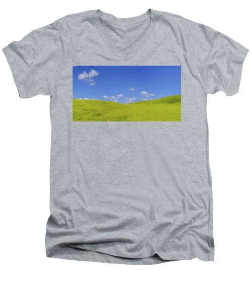 Rapeseed Landscape Men's V-Neck T-Shirt