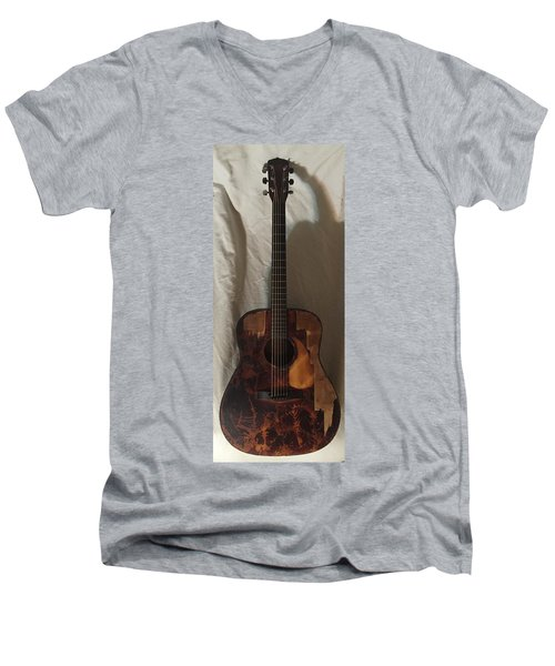 Rat Guitar 2 Front Men's V-Neck T-Shirt