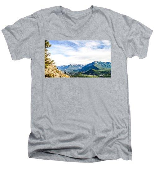 Rattlesnake Ledge Men's V-Neck T-Shirt