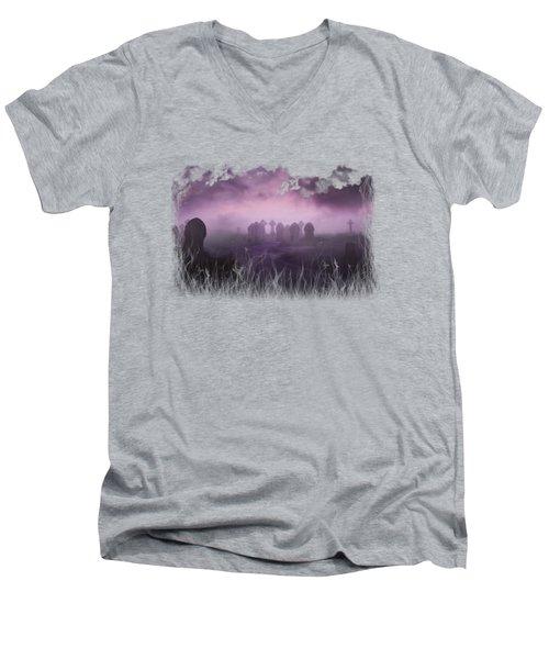 Rave In The Grave On Transparent Background Men's V-Neck T-Shirt