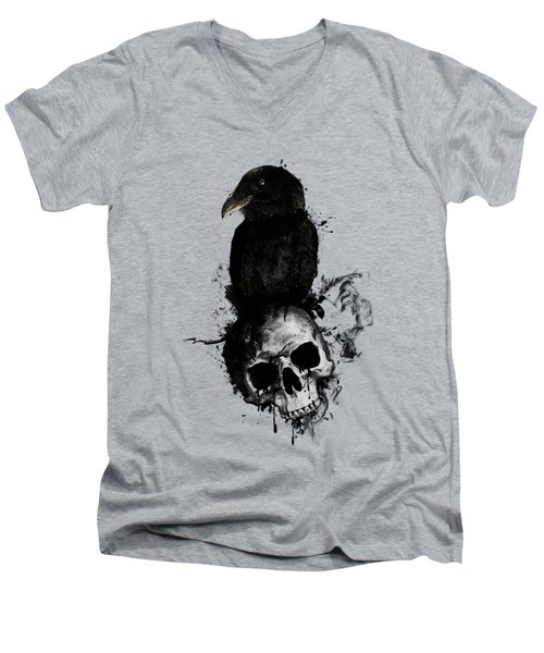 Raven And Skull Men's V-Neck T-Shirt