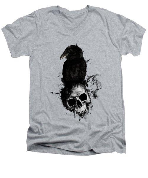 Raven And Skull Men's V-Neck T-Shirt