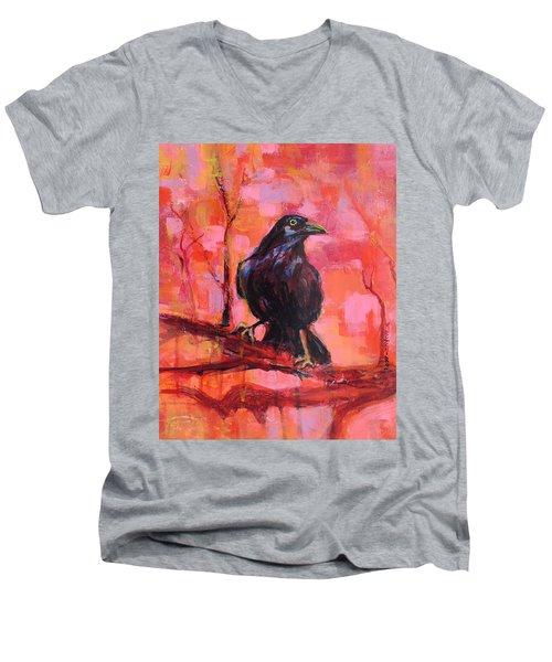 Raven Bright Men's V-Neck T-Shirt
