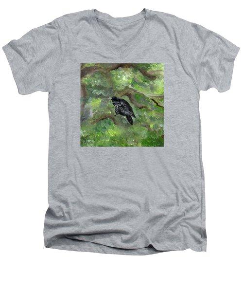 Raven In The Om Tree Men's V-Neck T-Shirt