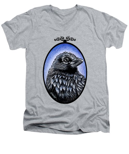 Raven Men's V-Neck T-Shirt by Kim Niles