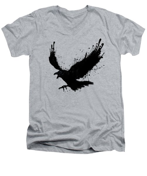 Raven Men's V-Neck T-Shirt by Nicklas Gustafsson